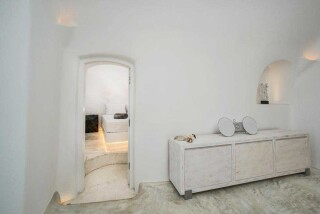 Olea Cave House II Villa lounge room amenities